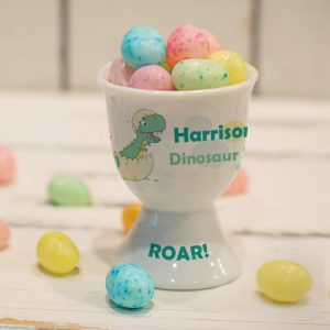 Personalised Children's Egg Cup - Dinosaur