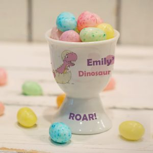 Personalised Children's Dinosaur Egg Cup