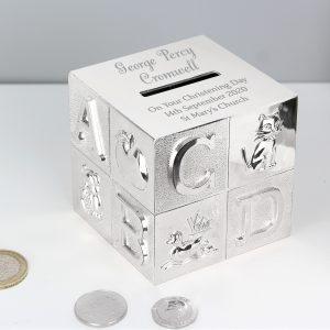 Personalised New Baby Christening Money Box