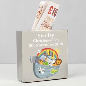 Noah's Ark Personalised Money Box