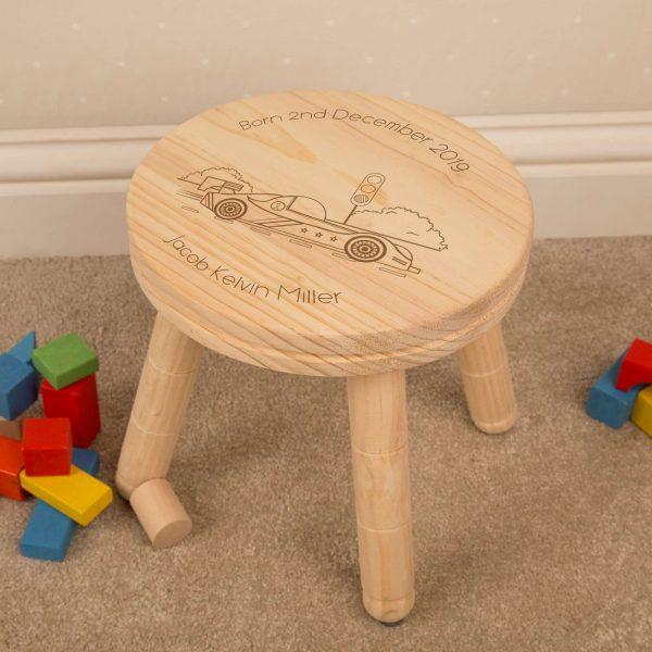 racing car personalised stool