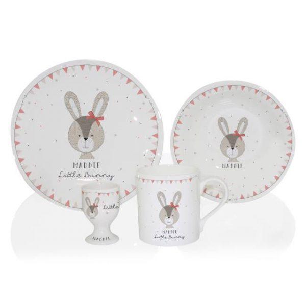Little Bunny Personalised Breakfast Set