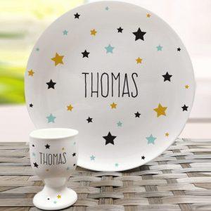 Personalised Stars Breakfast Set