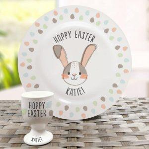 Hoppy Easter Plate & Egg Cup Set
