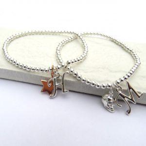 Personalised Initial & Charm Bracelet