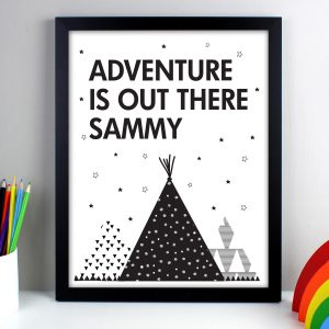 Personalised Adventure Is Out There Framed Print