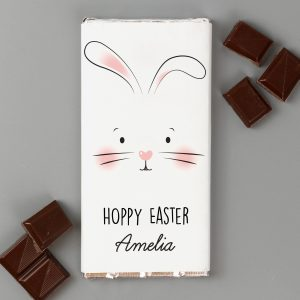 Bunny Face Personalised Chocolate Bar