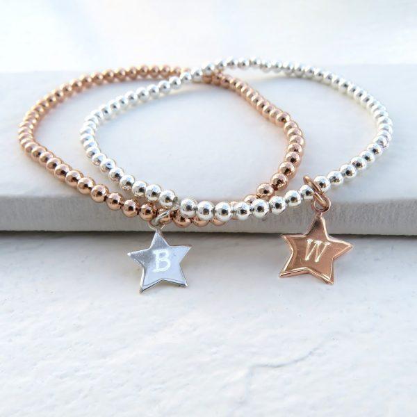 Personalised Star Charm Bracelet