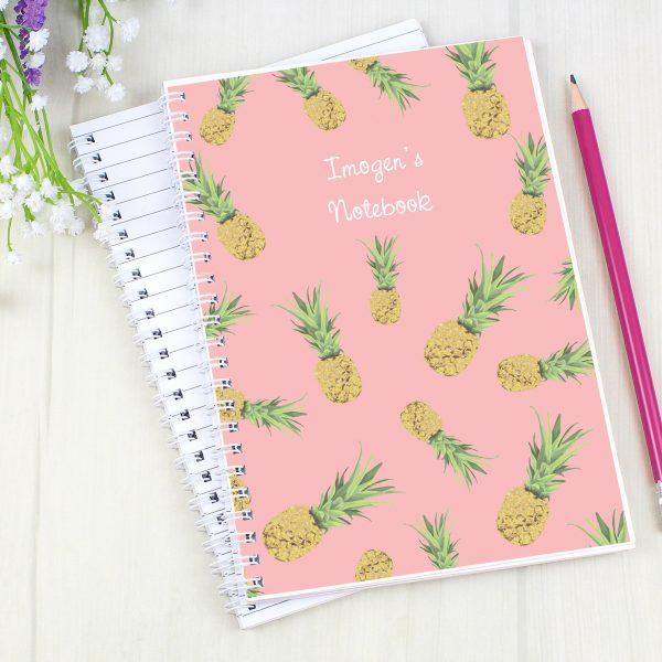 Personalised Pineapple Notebook