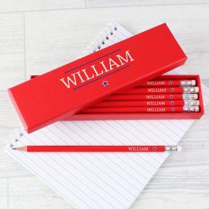 Personalised Star Box Pencils