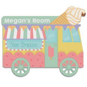 Ice Cream Van Door Plaque