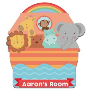 Noah's Ark Bedroom Door Plaque