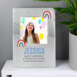 Personalised Rainbow Photo Frame