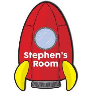 Rocket Ship Door Plaque