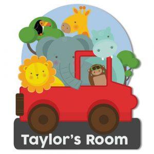 Safari Childs Bedroom Door Plaque