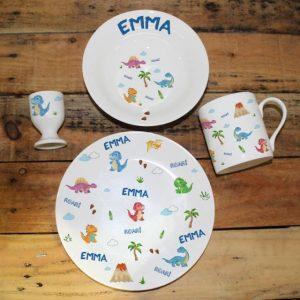 Dinosaur Personalised Breakfast Set