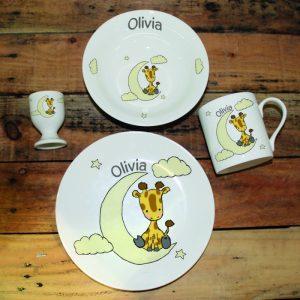 Sweet Dreams Giraffe Breakfast Set