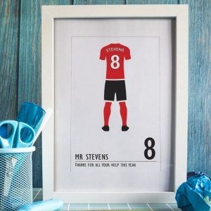 Personalised Football Kit A4 Framed Print