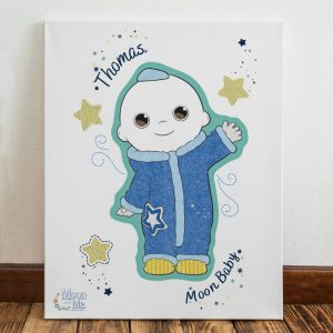 Moon and Me Moon Baby Canvas