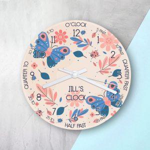 Personalised Woodland Glass Clock