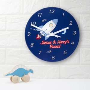 Rocket to the Moon Clock