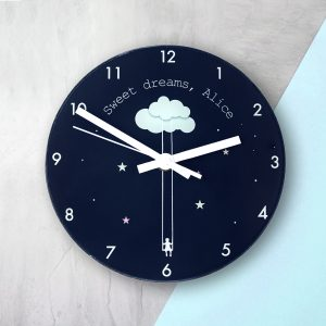 Sweet Dreams Personalised Clock