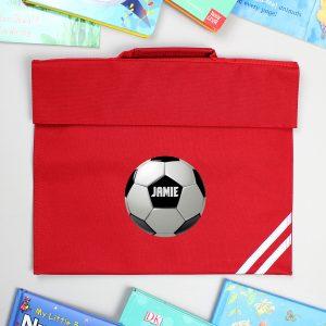 Personalised Football Red Book Bag