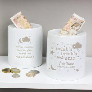 Personalised Twinkle Twinkle Money Box