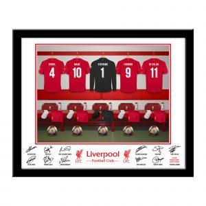 LFC Goalkeeper Dressing Room Framed Print