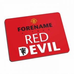 Manchester United FC Red Devil Mouse Mat (Red)