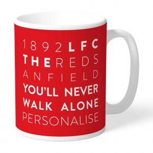 Liverpool FC Word Collage Mug