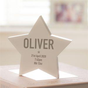 Wooden Modern Personalised Star