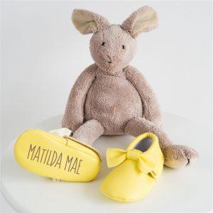 Yellow 'Name' Booties