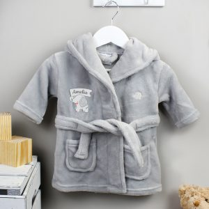Personalised Elephant 0-6m Dressing Gown