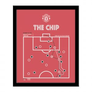 Manchester United FC The Chip - Iconic Goals Framed Print