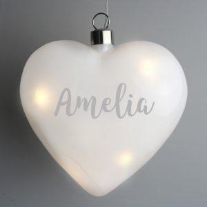 Personalised Name LED Hanging Heart