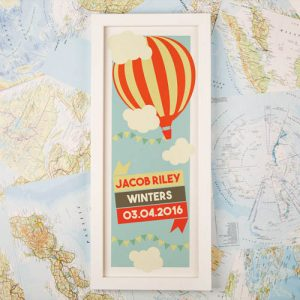 Hot Air Balloon Personalised Framed Print