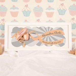 Ballet Shoes Personalised Framed Print