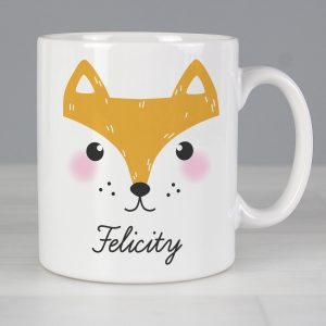 Personalised Cute Fox Face Mug
