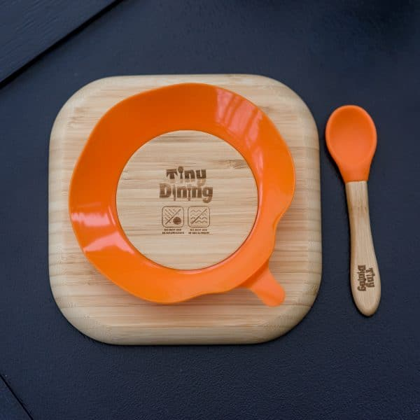 Woodland Bamboo Suction Plate & Spoon