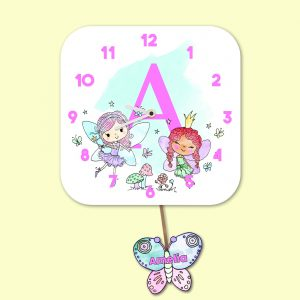 Alphabet Fairy Wall Clock