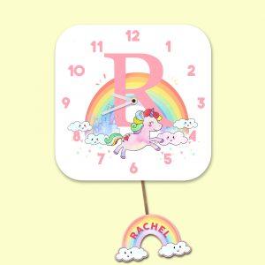 Alphabet Unicorn Clock