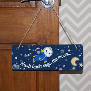 Moon and Me Moon Baby Hanging Door Sign