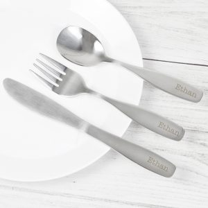 Personalised 3 Piece Cutlery Set
