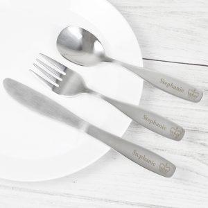 Personalised 3 Piece Princess Cutlery Set