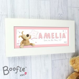 Personalised Boofle It's a Girl Name Frame