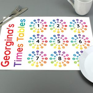 Personalised Times Tables Placemat