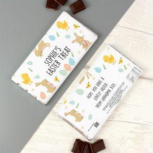Easter Bunny & Chick Milk Chocolate Bar