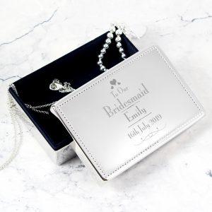 Personalised Wedding Bridesmaid Jewellery Box