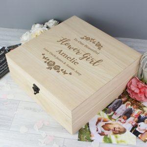 Personalised Any Role Wooden Keepsake Box